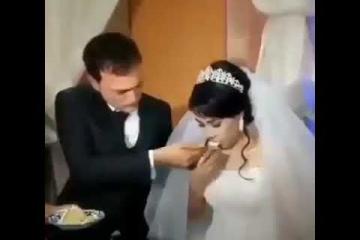 hombre pega a su mujer el dia de su boda