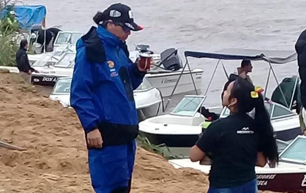 Mundial de Pesca: Pablo Lescano,  líder de Damas Gratis, ganó su zona en Goya
