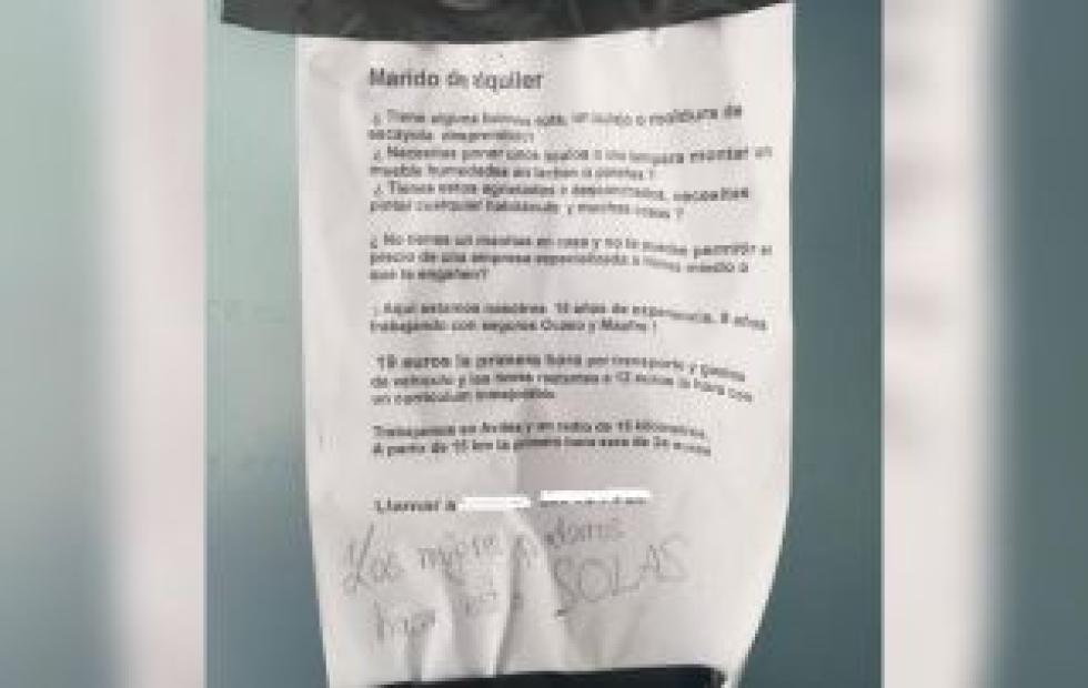 "Viral: Un albañil ofrece trabajo como ""marido de alquiler"" y causa polémica"