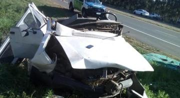 Falleció un hombre que sufrió grave accidente en Ruta 14 copy