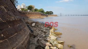 El rio Parana presenta una bajante extraordinaria