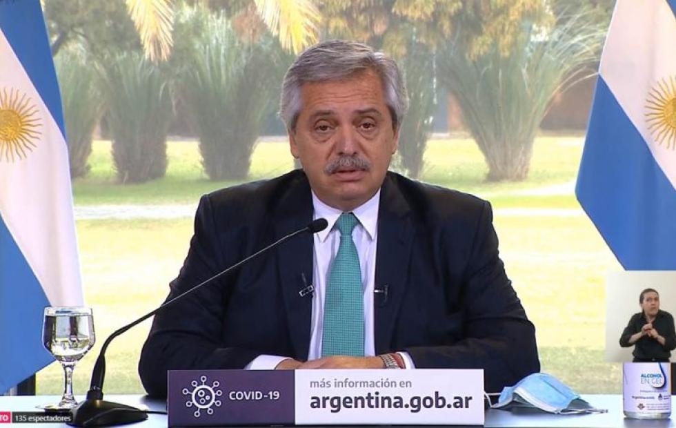 """Fernández: """"Vamos a mantener el ATP y el IFE para los que los necesiten, el Estado no los va a abandonar"""""""
