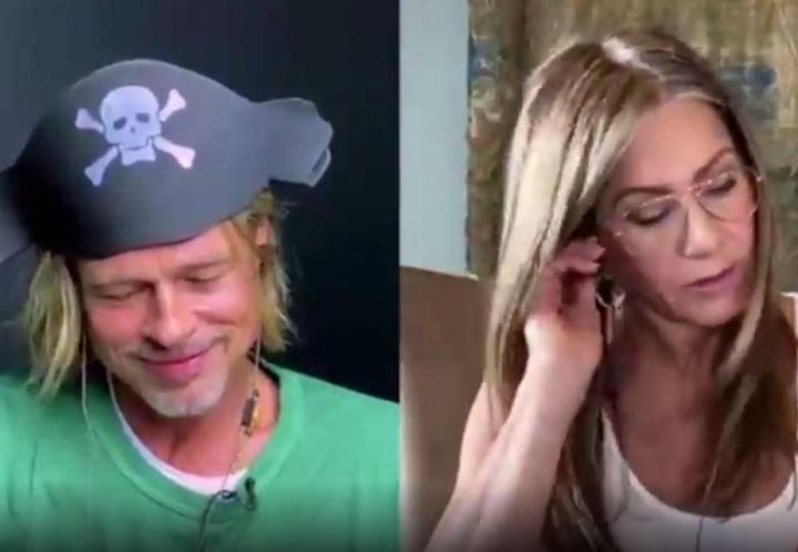 """El reencuentro de Jennifer Aniston y Brad Pitt: """"¿Vendrías conmigo?"""