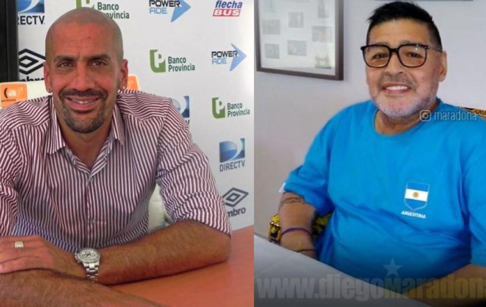 Maradona y Verón se unieron en una campaña solidaria para colaborar con un hospital