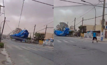 VIDEO: Se voló una pelopincho y apareció en medio de una avenida