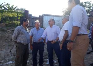 Tassano y su equipo supervisaron obras sobre avenida Jorge Romero