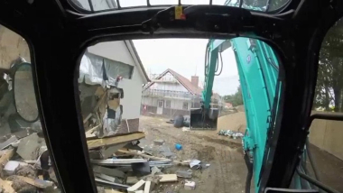 Builder jailed for wrecking new retirement homes in digger rampage