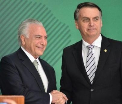 Bolsonaro le soltó la mano a Temer tras su detención