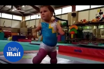 Adorable video shows brave girl with no limbs doing gymnastics