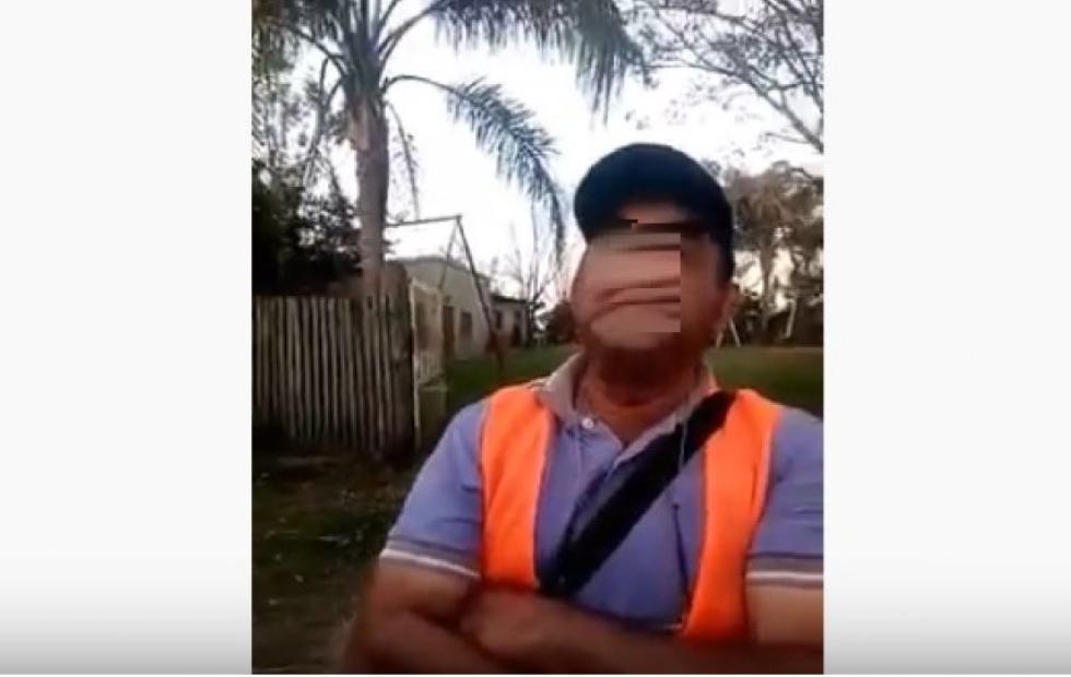 """Vídeo viral: En Mburucuyá, un camionero acusó que un inspector quiso cobrarle una """"coima"""""""