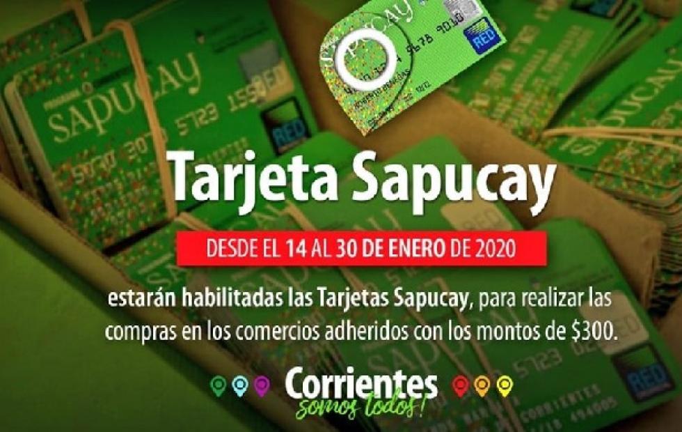 Se encuentra habilitada la tarjeta Sapucay