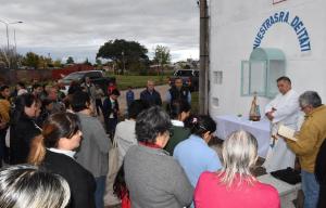Bº Apipé: reconvirtieron un minibasural en un oratorio de la Virgen de Itatí