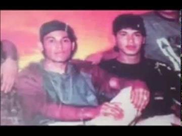 """Roberto Ibarra alias """"Yiyo"""" y Eduardo Alvarez juntos a fines de los 90."""