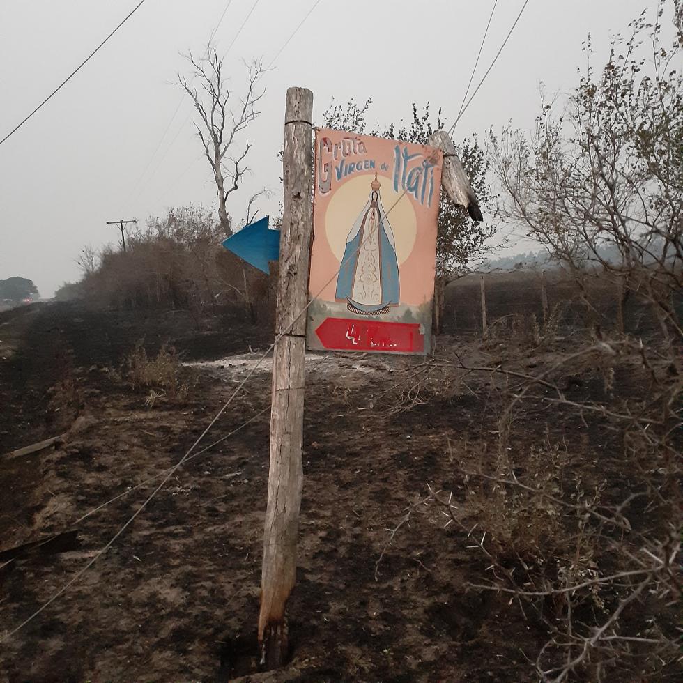 Virgen de Itati incendios en Corrientes