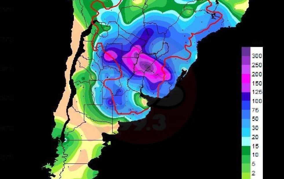 """Se esperan lluvias """"de alto impacto"""" hasta el 17 de enero para Corrientes"""