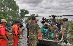 El rol clave del Ejército para ayudar a los correntinos en las inundaciones