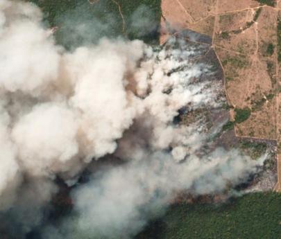 El humo por los incendios del Amazonas llega a la Argentina