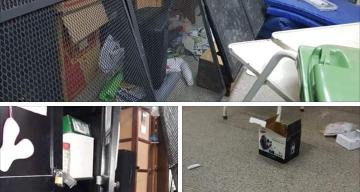 """Robo a la escuela Isla Malvinas: Se llevaron equipamiento de computación y causaron """"un desastre"""""""