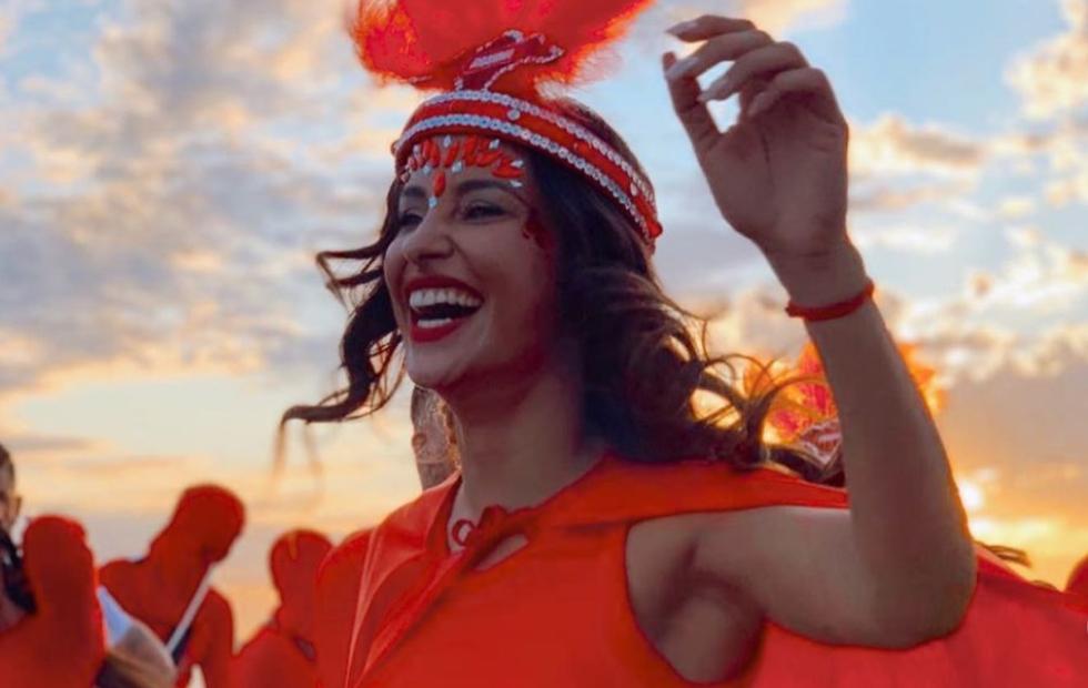 Fotos: Lourdes Sánchez bailó al ritmo del Carnaval en Corrientes