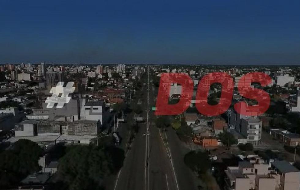 Increíbles videos: Corrientes desierta en cuarentena desde el cielo