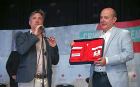 Canteros fue distinguido como Voluntario por la Cruz Roja