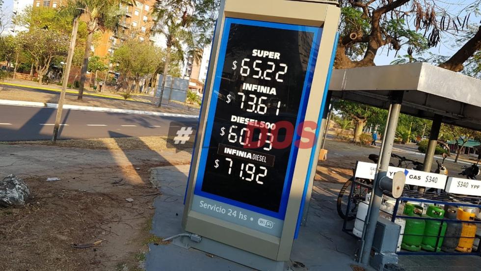 Nuevos valores en Corrientes: YPF subió los precios de los combustibles