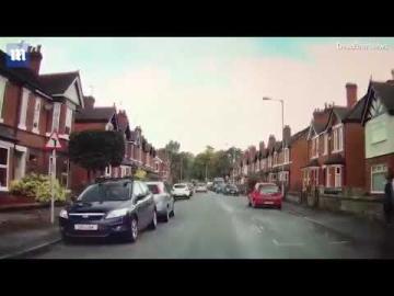 Video: Dash cam clip shows car speeding into puddle to soak pedestrian