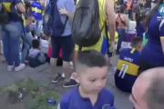 El exabrupto de un minihincha de Boca que se hizo viral