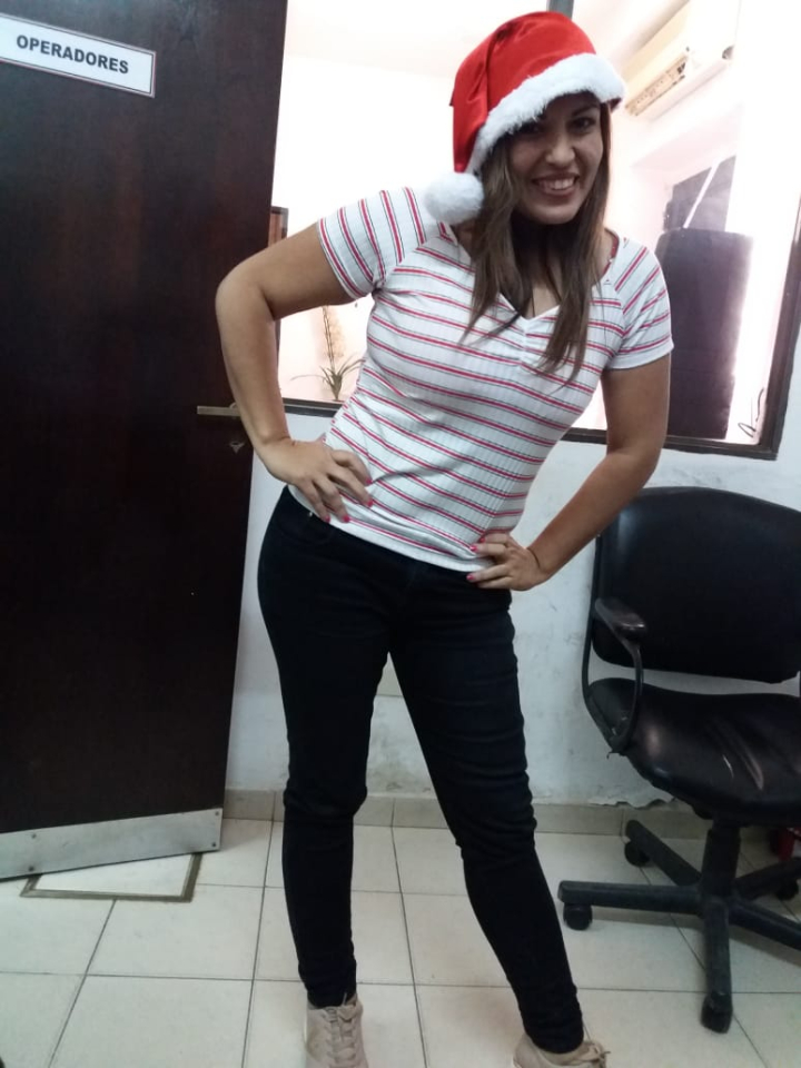 "La conductora del especial Patricia ""Patito"" Ocampo."