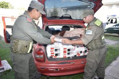 Corrientes: Gendarmería secuestró cigarrillos de contrabando valuados en 2 millones de pesos