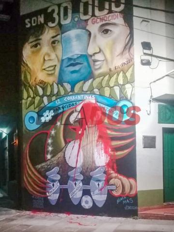 Corrientes: Tercer ataque contra mural en homenaje a víctimas de la dictadura
