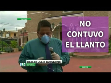 CARLOS JULIO GURUMENDI, DE RTS, LLORA EN VIVO