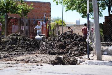 El periodista de La Dos Mariano Vallejos graficó la sotuación del barrio San Marcos este viernes.