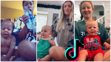 """Spilling water on babies TikTok Compilation """"What you doin' with that uh uh, UH"""""""