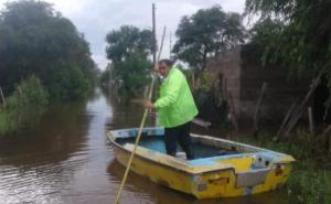 El mejor amigo: Un correntino rescata a los perros abandonados por las inundaciones