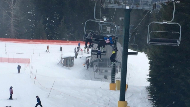 Boy Gets Caught After Falling From Ski Lift Chair
