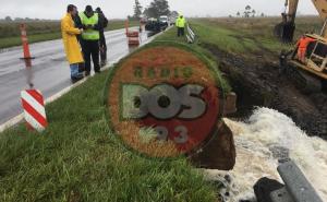 Continúa el corte total sobre Ruta 12 por rotura de alcantarilla cerca de Itatí