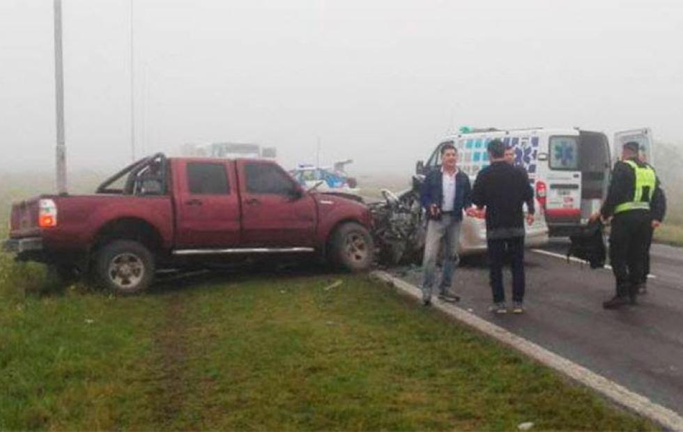 Impactantes fotos: Un correntino falleció tras choque frontal en Ruta 11