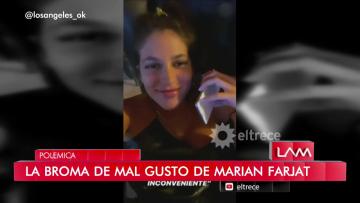 La broma de mal gusto de Marian Farjat con el Coronavirus