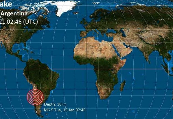 Fuerte terremoto magnitud 6.4 en San Juan
