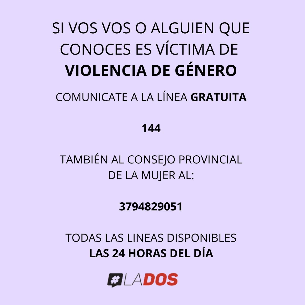 VIOLENCIA DE GENERO LINEA 144