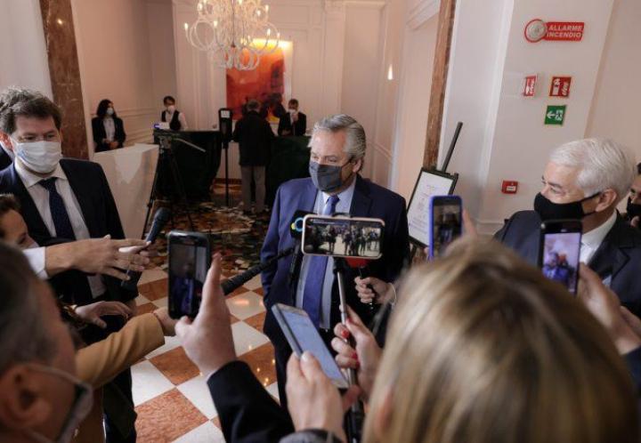 """Alberto Fernández, tras la reunión con Georgieva: """"Insistí con la reducción de sobretasas y la extensión de plazos"""""""