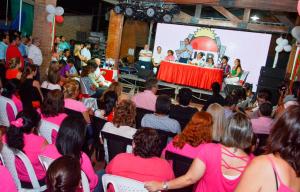 Valdés, Tassano y Colombi compartieron un acto político en el barrio Quintana