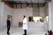 Cardozo verificó el avance de obras del Hospital de Esquina