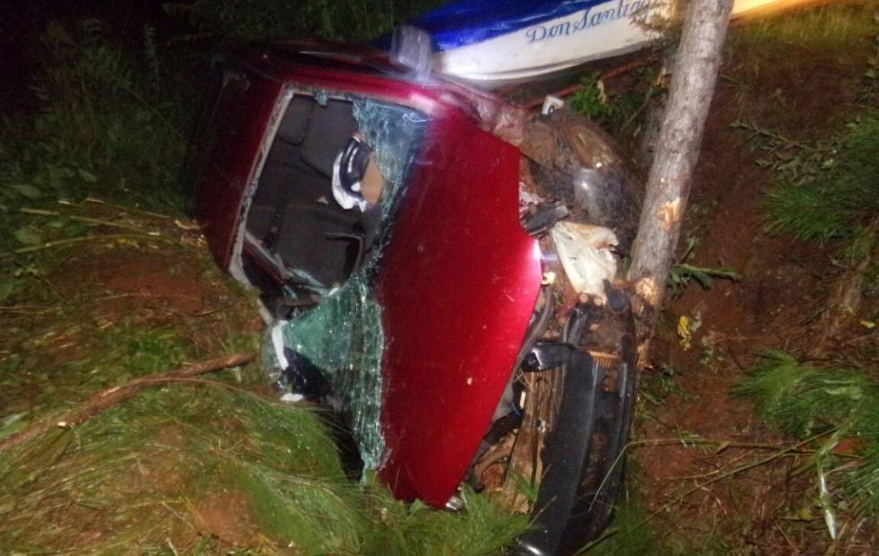 Un joven falleció tras despiste de un auto en Ruta 12