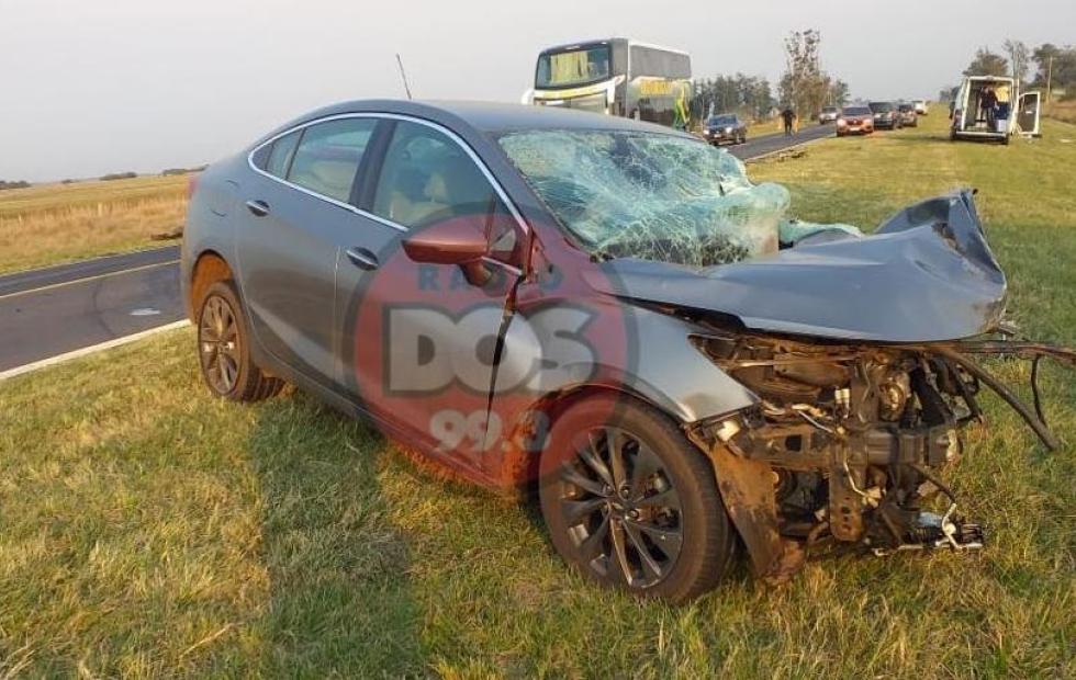Video: Grave accidente en Ruta 12 deja dos muertos en Corrientes