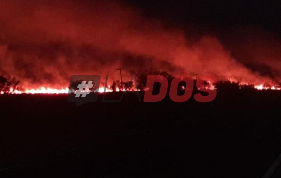 Nuevamente, incendios de pastizales provocaron serios daños en la distribución de energía en el interior de Corrientes