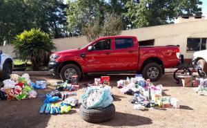 Prefectura durante un control caminero en Alvear secuestró un importante contrabando