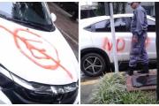 Resistencia: Insólito escrache a una camioneta mal estacionada