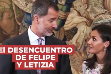 El desencuentro de Felipe y Letizia